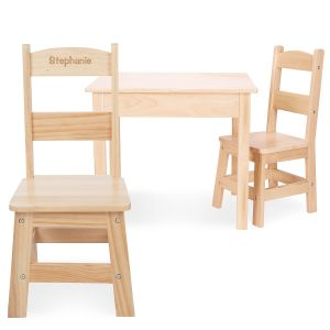 Personalized Wooden Table and Chairs by Melissa & Doug®