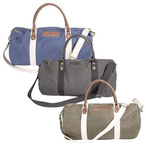 Leather and Waxed Canvas Duffel Personalized