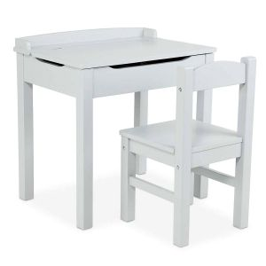 Gray Wooden Lift-Top Desk & Chair by Melissa & Doug