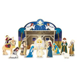Wooden Christmas Nativity Set by Melissa & Doug®
