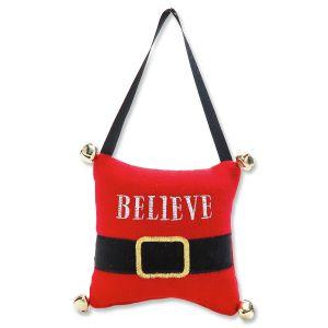 Believe Christmas Door Pillow