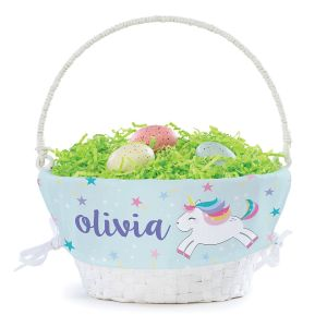 Personalized Unicorn Easter Basket with Liner