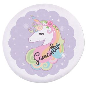 Personalized Unicorn Round Beach Towel