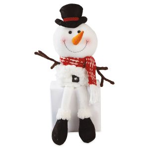 Snowman Top Hat Plush Shelf Sitter