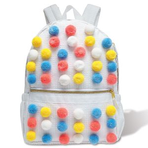 Bright Pom Poms Backpack