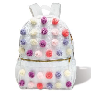 Pastel Pom Poms Backpack