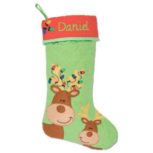 Reindeer Personalized Christmas Stocking by Stephen Joseph®