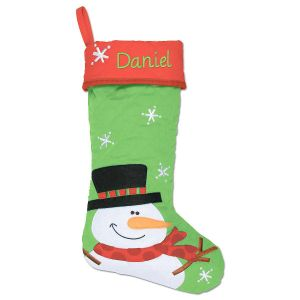 Snowman Personalized Christmas Stocking by Stephen Joseph®