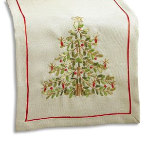 Ribbon Christmas Tree Table Runner