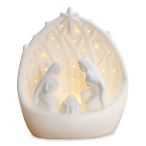 Porcelain LED Nativity
