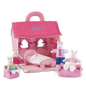 Personalized Plush Bunny Play Set