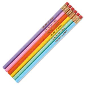 Pastel Personalized Pencils