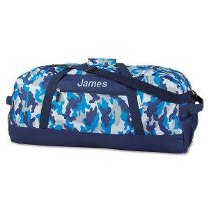 Blue Camo Duffel Bags