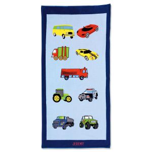 Cars Beach Personalized Towel