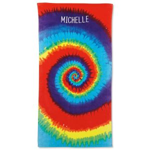 Tie-Dye Personalized Towel