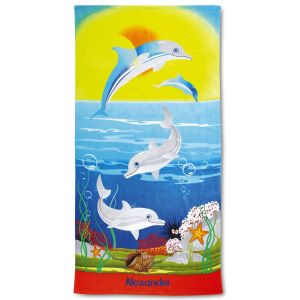 Dolphins Personalized Towel