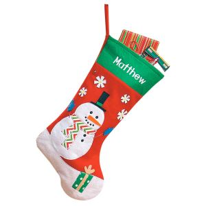 Lighted Snowman Christmas Stockings