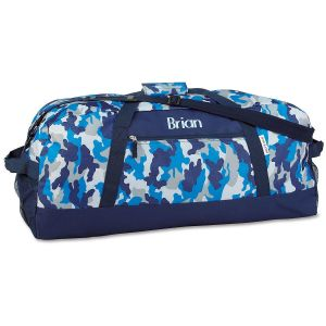 Blue Camo Duffel Bag
