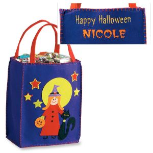 Moonlight Witch Small Appliquèd Treat Tote