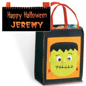 Frankenstein Small Appliquèd Treat Totes