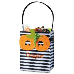 Pumpkin Felt Treat Bag with Removable Mask