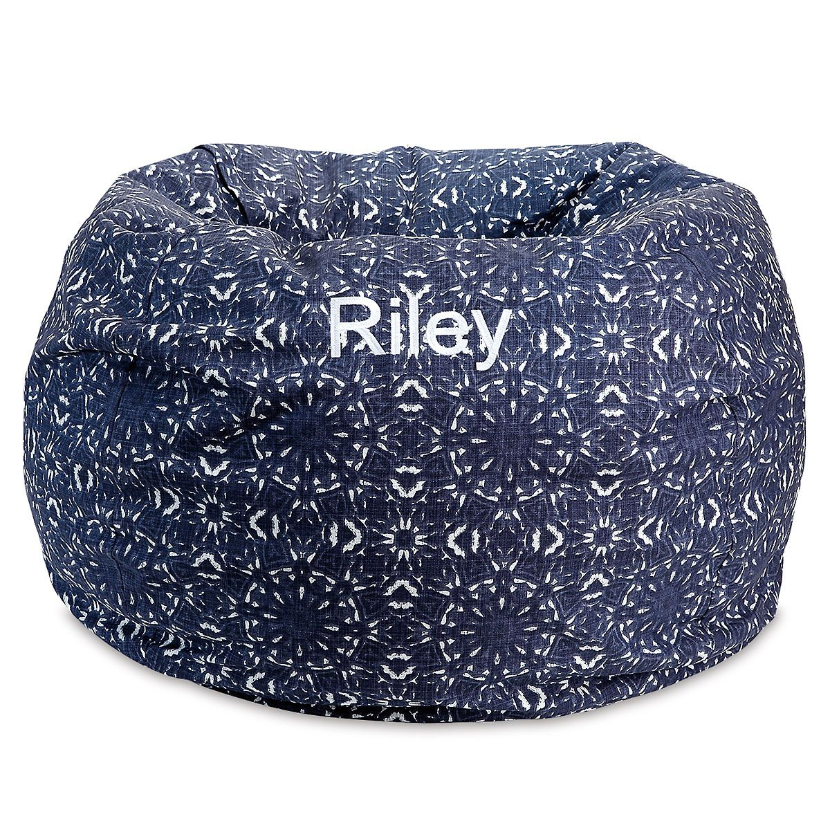 Blue Kaleidoscope Personalized Bean Bag Chair