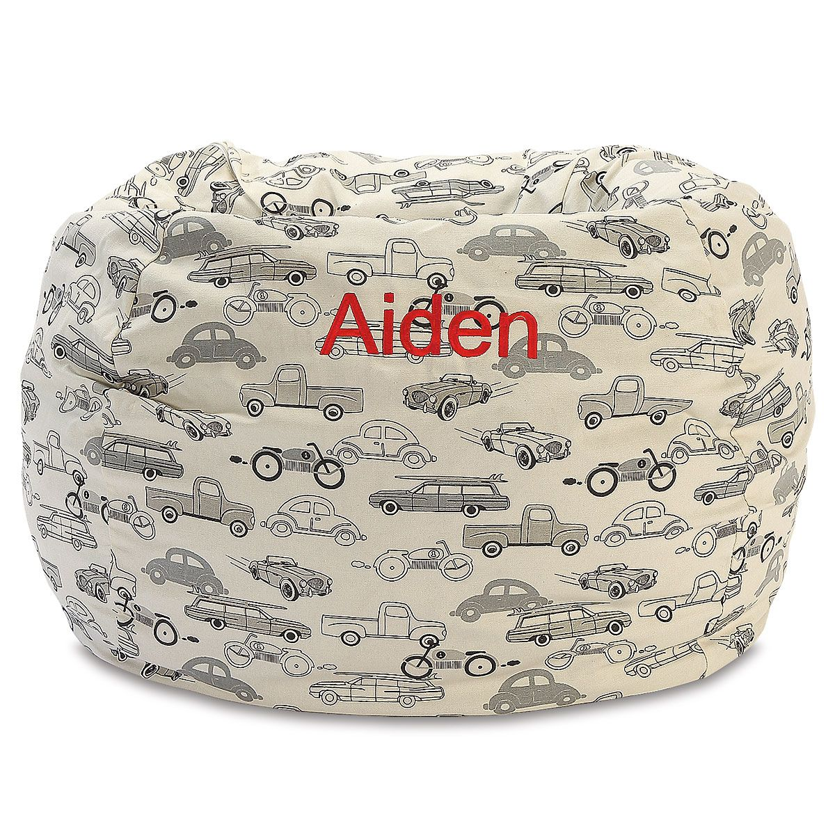 Personalized Retro Rides Bean Bag Chair