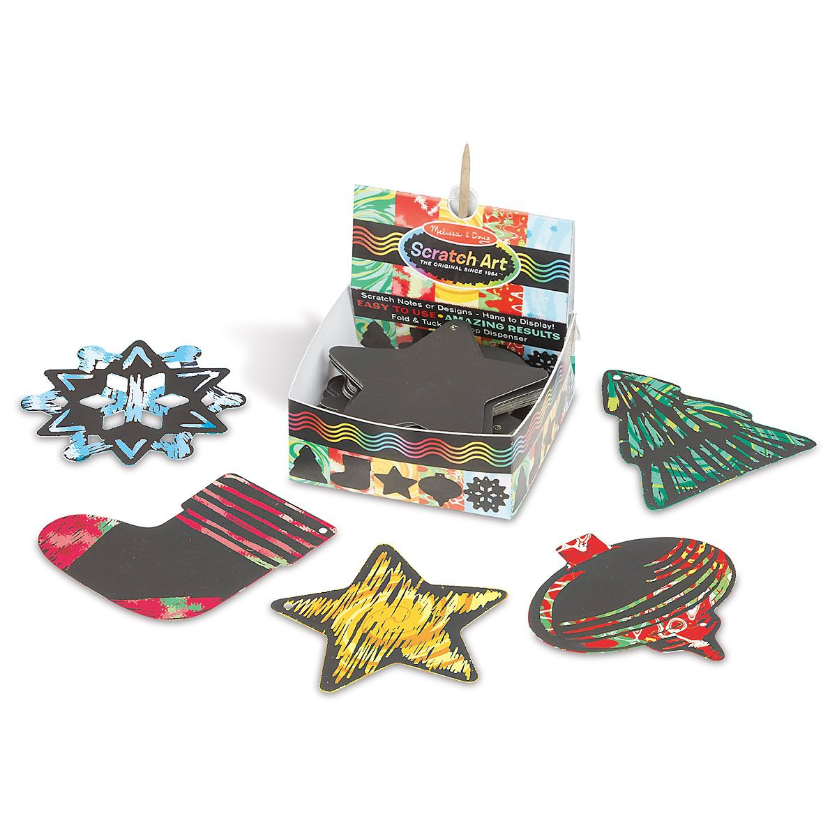Scratch Art  Holiday Note Cards