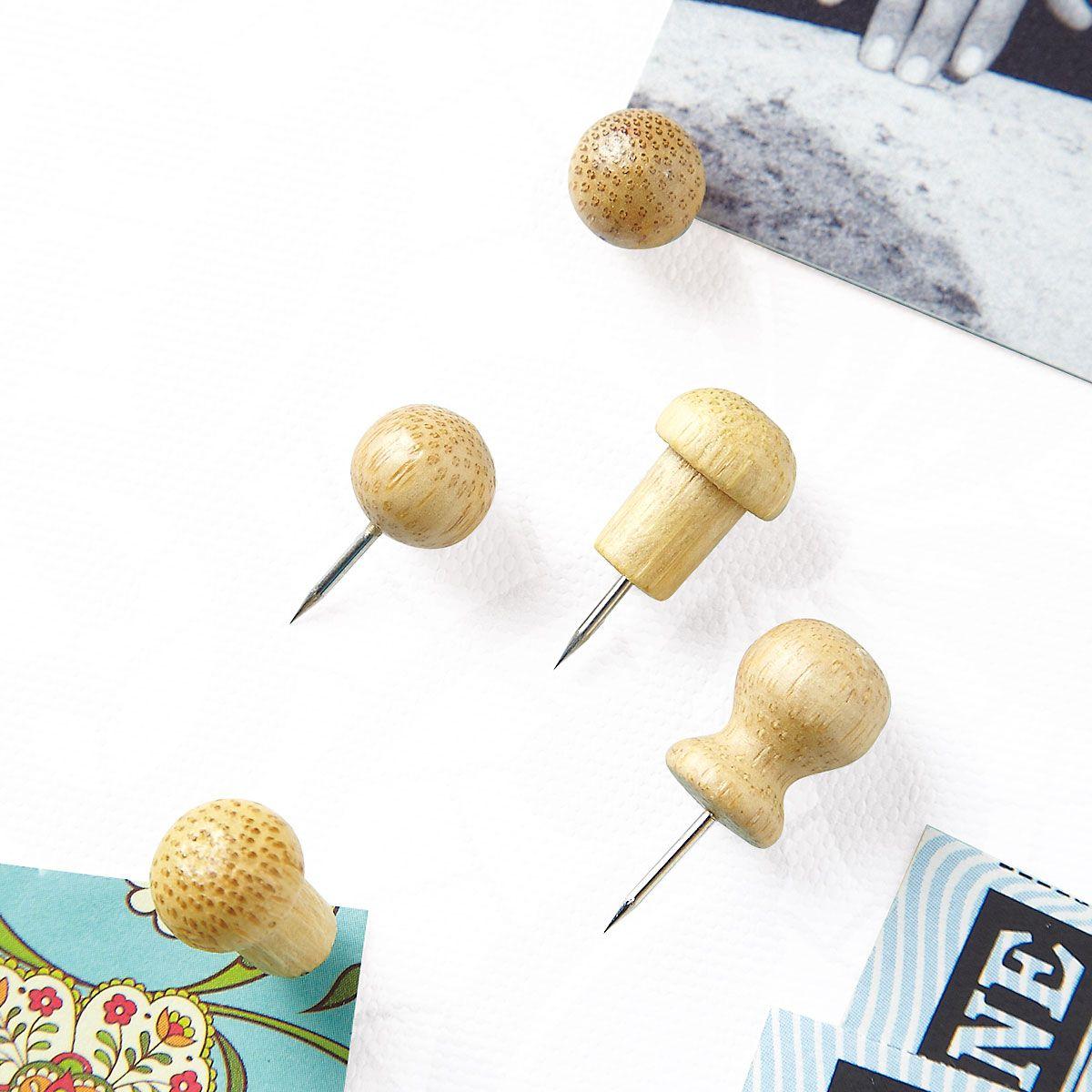 Bamboo Pushpins