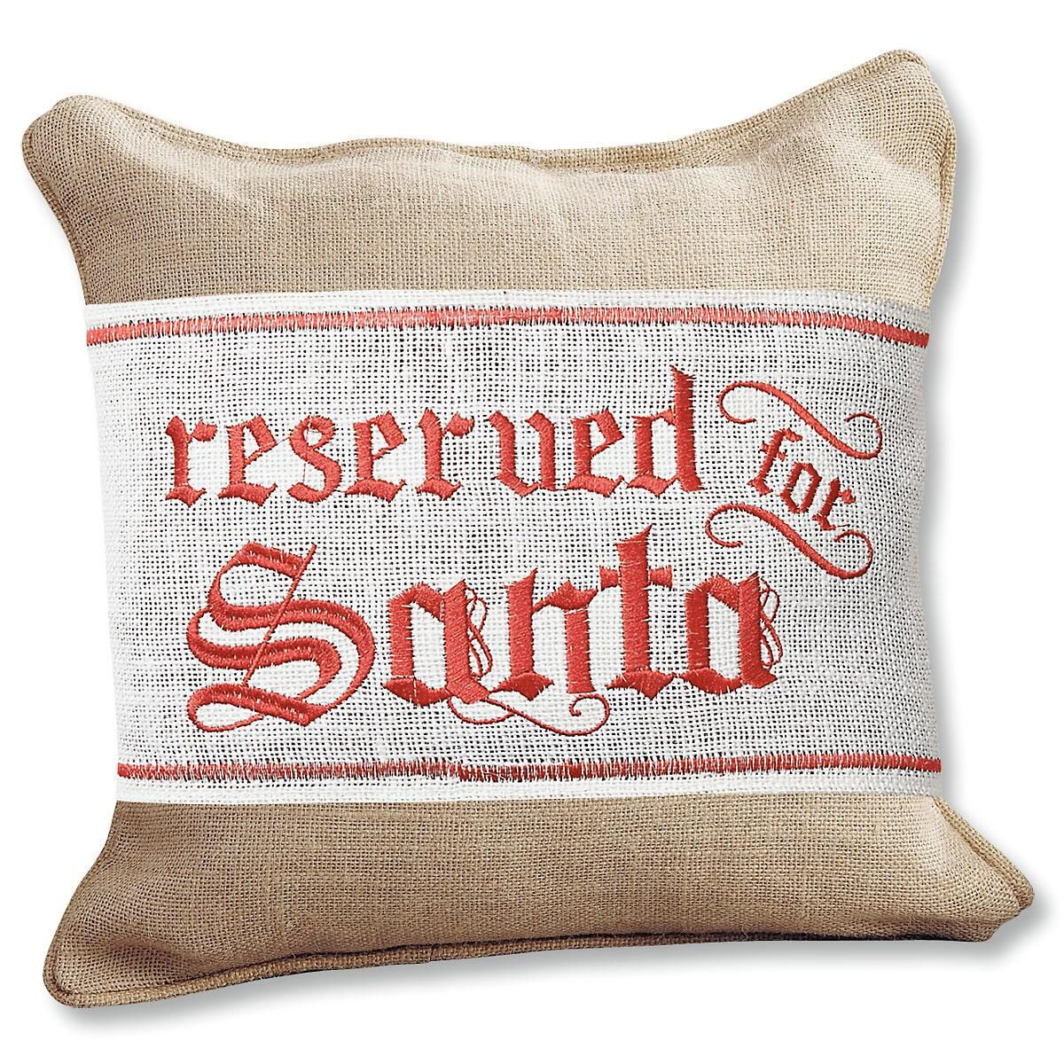 Reserved For Santa Pillow Wrap by Mud Pie