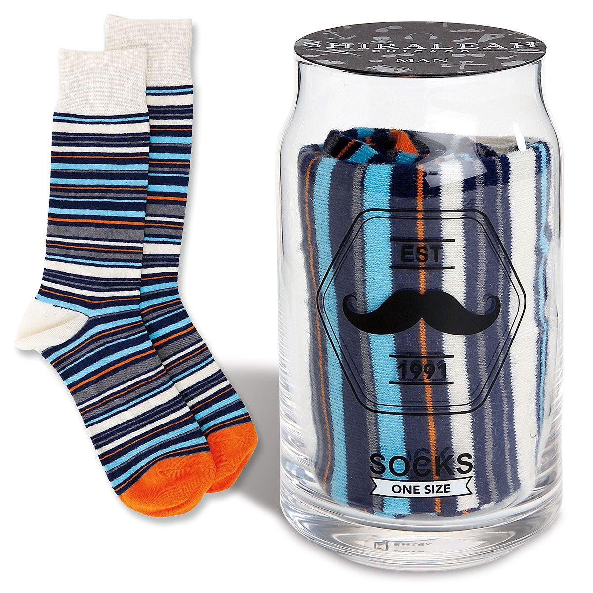 Striped Socks in a Drinking Glass