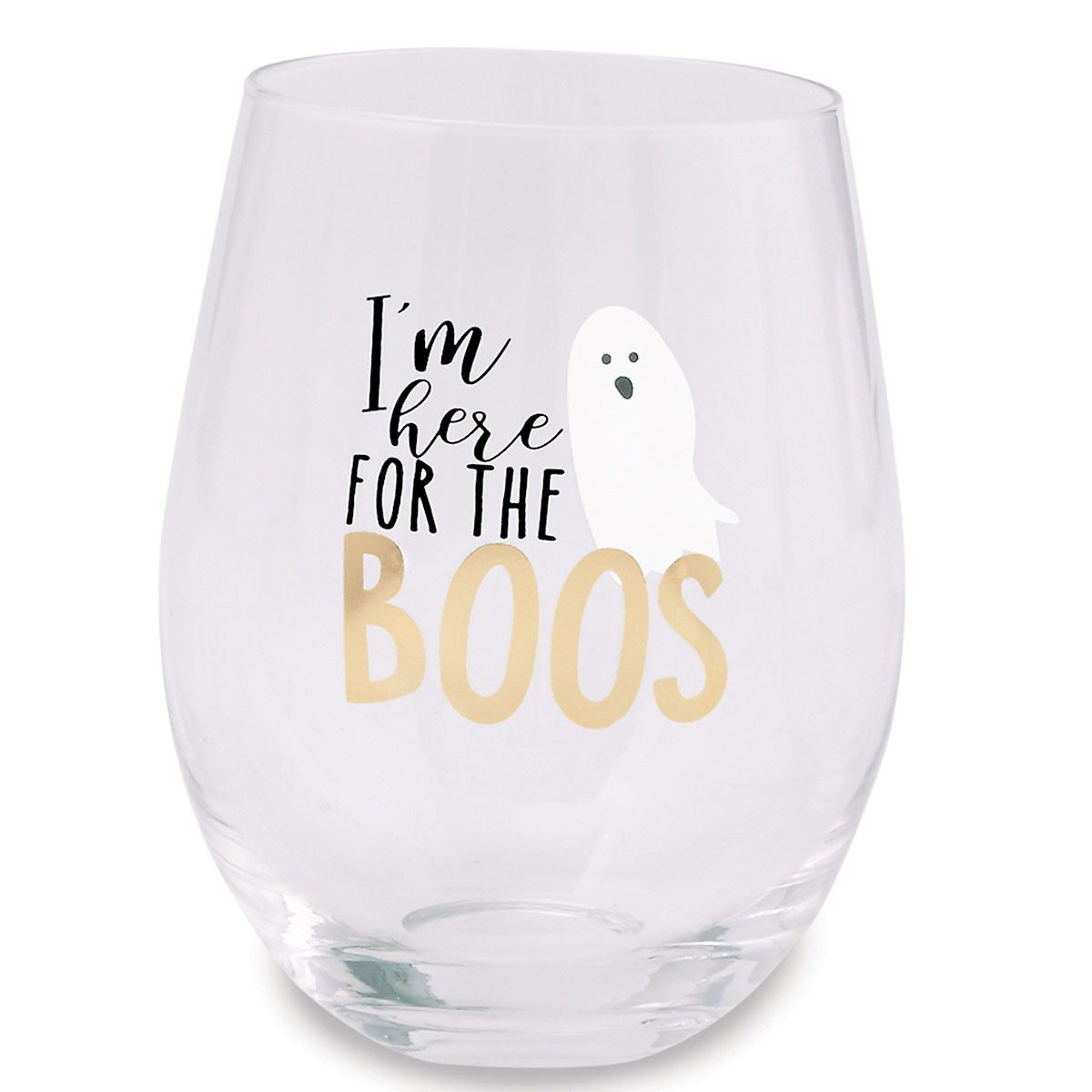 Here for the Boos Halloween Stemless Wine Glass