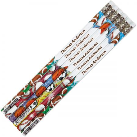 Sports Personalized Pencils