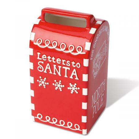 Ceramic Santa Mailbox