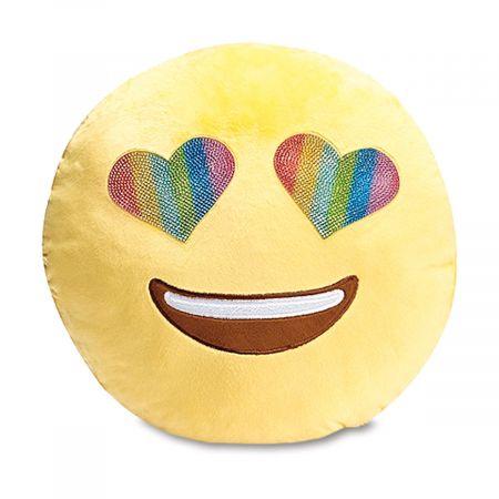 Emoji Heart Eyes Pillow