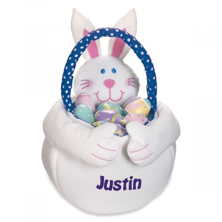 Easter Bunny Personalized Tote - Boy Bunny