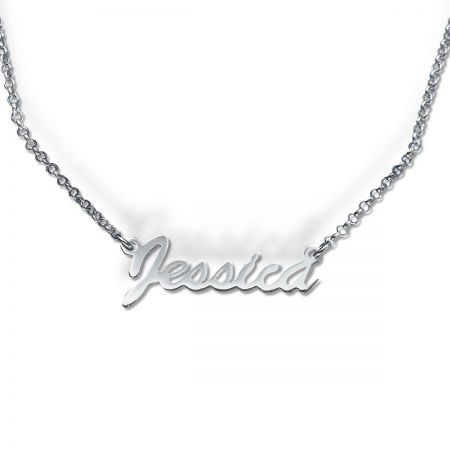 Sterling Silver Script Name Necklace