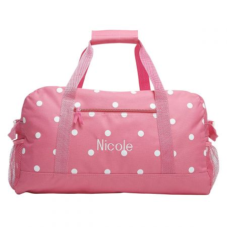 Pink with White Dots Duffel Bag