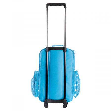 Turquoise Polka-Dot Personalized Rolling Luggage