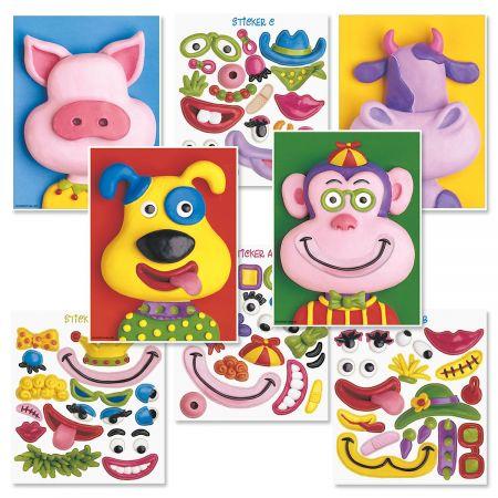 Animal Make-A-Face Cards