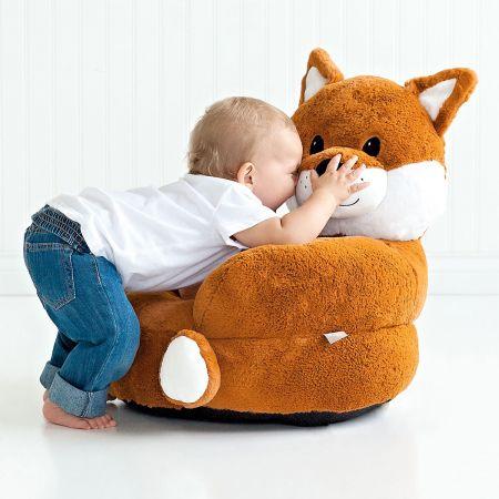Children's Fox Plush Character Chair