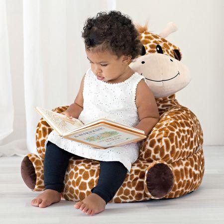 Children's Giraffe Plush Character Chair