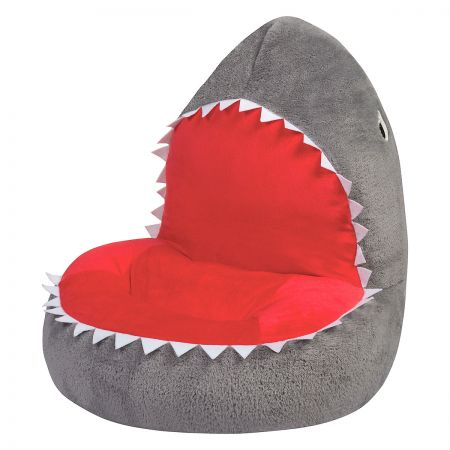 Amazing Childrens Shark Plush Character Chair Caraccident5 Cool Chair Designs And Ideas Caraccident5Info