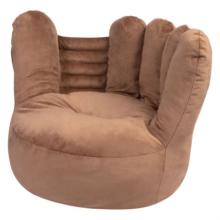 Children's Baseball Glove Plush Character Chair