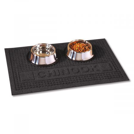 Textured Pet Dining Mat-Charcoal-2L094B