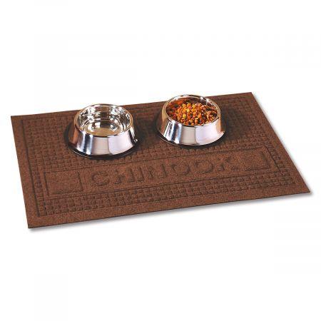 Textured Pet Dining Mat-Brown-2L094E