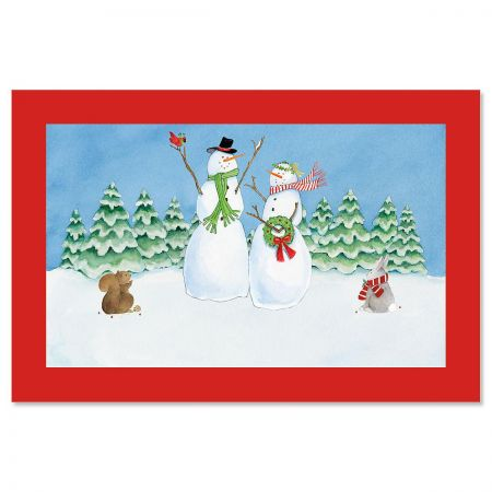 SnowFamily Personalized Christmas Floormat