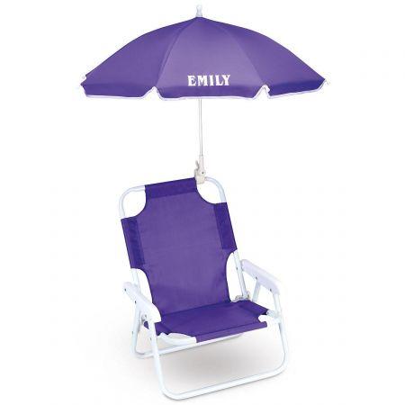 Child-Size Umbrella Beach Chair - 3 Colors