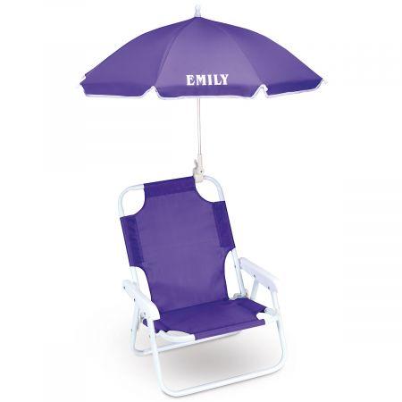 Lavender Child Size Umbrella Beach Chair