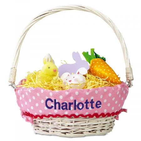 Personalized Easter Baskets with Liners